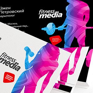 Разработка фирменного стиля для федерального оператора indoor-рекламы в фитнес-центрах.